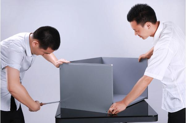 Cách lắp ráp các thành phần tủ so màu