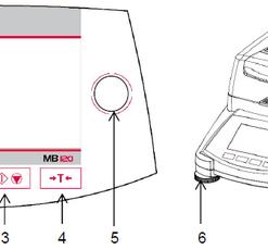 Cấu tạo cân sấy ẩm ohaus mb120