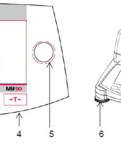 Cấu tạo cân sấy ẩm Ohaus - MB90