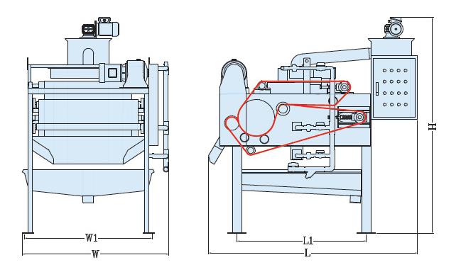 Mô hình hoạt động máy ép bùn băng tải TD2
